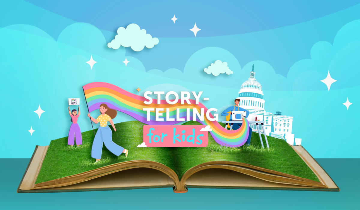 Storytelling for Kids: Pride, The story of Harvey Milk and the Rainbow Flag